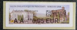 FRANCE - VIGNETTES ILLUSTREES - 2018 - VIG 266 - SALON PHILATELIQUE DE PRINTEMPS - SORGUES - 2010-... Vignette Illustrate