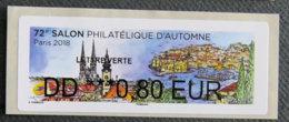 FRANCE - VIGNETTES ILLUSTREES - 2018 - VIG 267 - SALON PHILATELIQUE D AUTOMNE - 2010-... Abgebildete Automatenmarke