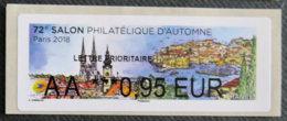 FRANCE - VIGNETTES ILLUSTREES - 2018 - VIG 268 - SALON PHILATELIQUE D AUTOMNE - 2010-... Abgebildete Automatenmarke