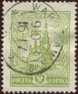 Pays : 390,2 (Pologne : République)  Yvert Et Tellier N° :    313 (o) Type II /  Michel PL 236 II, / POL 208II - Gebruikt