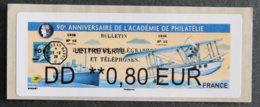 FRANCE - VIGNETTES ILLUSTREES - 2018 - VIG 286 - 90è ANNIVERSAIRE DE L ACADEMIE DE PHILATELIE - 2010-... Vignette Illustrate