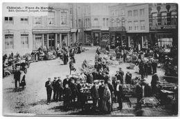 CHATELET : Place Du Marché - Très Belle Animation - 1913 - Châtelet