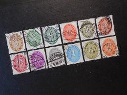 D.R.Mi 114x-116x/118x/120x/122x/124x/125x/126x/127x-129x - Dienstmarken  1927/1930  Mi 7,50 € - Germany