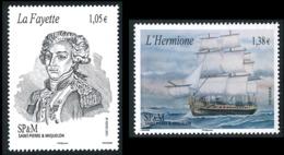 ST-PIERRE ET MIQUELON 2015 - Yv. 1137 Et 1138 **  - Voyage Inaugural Du Bateau Hermione (2 Val.)  ..Réf.SPM11695 - St.Pierre & Miquelon