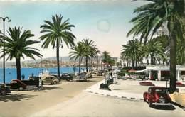 Automobiles - Voitures De Tourisme - Cannes - La Croisette - Au Fond Le Suquet - Voir Scans Recto-Verso - Passenger Cars