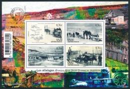 ST-PIERRE ET MIQUELON 2015 - Yv. F1128 (1128 à 1131) **  - Feuillet Attelages Divers (4 Val.)  ..Réf.SPM11735 - St.Pierre & Miquelon