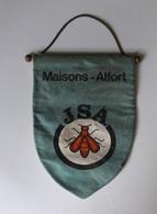 Ancien Fanion JSA . Jeunesse Sportive Alfort Tennis De Table , Ping-Pong  MAISONS ALFORT . Abeille Bee - Table Tennis