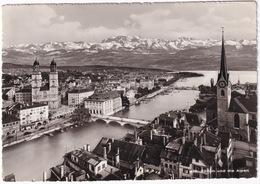 Z 418 Zürich Und Die Alpen - 1957 - (Suisse/Schweiz) - ZH Zurich