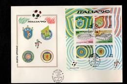 Busta Primo Giorno - Busta FDC Italia Repubblica 1990 Italia '90 - 6. 1946-.. Repubblica