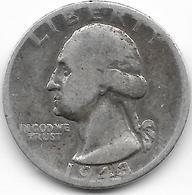 Vente Enchere Flash 24 H Mise à Prix 1 € - 5 Pièces 1/4 Quarter Dollar - Argent 1964 ( D) 1946 (D) 1964 1962 (D) 1943 (D - Émissions Fédérales