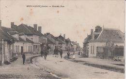 AUBE - BREVIANDES - Grande Rue   ( - Timbre à Date De 1915 - Animation ) - France
