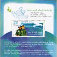 5X INDIA 2004 UN Peace Keeping Force; Miniature Sheet, MINT - India