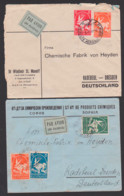 Sofia Luftpostbrief Par Avion Nach Radebeul Deutschland Chemische Fabrik Von Heyden - Briefe U. Dokumente
