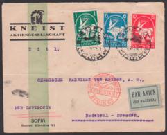 Sofia Luftpostbrief Par Avion Nach Radebeul Deutschland Chemische Fabrik Von Heyden, Luftpostamt Berlin C2, 21.5.34 - 1909-45 Königreich