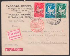 Sofia Luftpostbrief Par Avion Nach Radebeul Deutschland Chemische Fabrik Von Heyden, Luftpostamt Berlin C2, 31.7.34 - 1909-45 Königreich