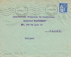368 Type Paix 90 C. Outremer De Nice Garibaldi 30-12-1938 - Lettres & Documents