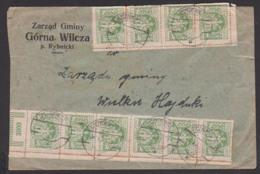 Polska Polen Inflation 29.X. 23, Brief Aus SZCZYGLOWINA, Knurów, Frankatur In Einheiten - 1919-1939 République