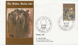 Vaticano 1987 Uf. 805 Sant' Agostino Prime Die Golden Series Con Certificato - Theologians