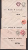 Card Great Britain LONDON 3 GA Nach Leipzig Saxony An Baader & Gerlach, Versch. Empf.änger-Straßennamen - 1902-1951 (Kings)