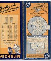 Carte Géographique MICHELIN - N° 067 NANTES - POITIERS 1947-2 - Cartes Routières
