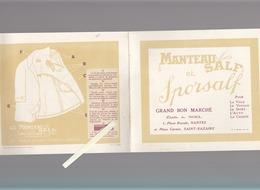 Nantes / Saint-Nazaire / Catalogue Manteau Homme Salf étab. A.Noel, Grand Bon Marché, Place Royale - Publicités