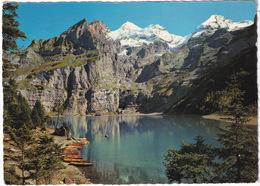 Oeschinensee Bei Kandersteg, 1600 M - Rothorn-Blümlisalphorn-Oeschihorn-Fründenhorn - (Suisse/Schweiz) - BE Berne