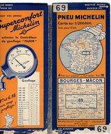 Carte Géographique MICHELIN - N° 069 BOURGES - MACON N° 3340-85 - Cartes Routières