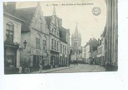 Ieper Ypres Rue De Lille Et Tour Saint Pierre - Ieper