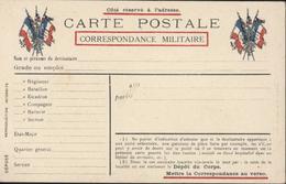 CP Correspondance Militaire Neuve Drapeaux Guerre 14 18 - Cartes De Franchise Militaire