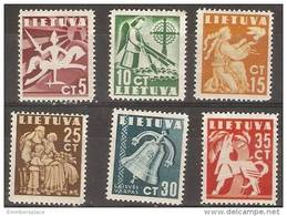 Lithuania - 1940 Peace MH *   SG 439-44   Sc 317-22 - Lithuania