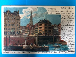 Litho. Hamburg. Messberg  1908 - Harburg