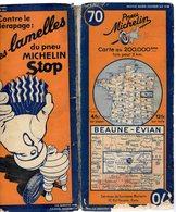 Carte Géographique MICHELIN - N° 070 BEAUNE - EVIAN N° 1012-3527 - Cartes Routières
