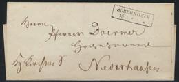 Preussen Markenloser Brief Mit R2 SOBERNHEIM 1853 - Prusse