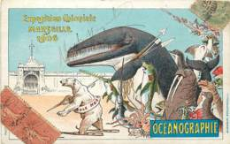 13 , EXPOSITION COLONIALE - MARSEILLE 1906 - ILLUSTRATION DE A VIMAR , OCEANOGRAPHIE , * 392 55 - Exposition D'Electricité Et Autres