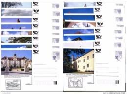Série Complète Châteaux Et Architecture 2000  Avec Cachet Du Château De 16 Cartes A 97/112 Michel P 12  II - Entiers Postaux