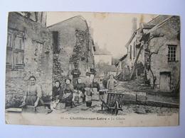 CPA CHATILLON SUR LOIRE LE GLACIS TRES ANIMEE - Chatillon Sur Loire