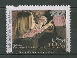 POLAND MNH ** 4052 ARTS. LA PETITE HELENE ET VASE DE FLEURS. STANISLAW WYSPIANSKI - 1944-.... Republik