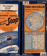 Carte Géographique MICHELIN - N° 071 La ROCHELLE - BORDEAUX N° 3422 1010 - Cartes Routières