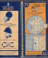 Carte Géographique MICHELIN - N° 071 La ROCHELLE - BORDEAUX 1949 - Cartes Routières
