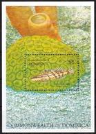 Dominica MiNr. Bl. 215 ** Leben Am Riff Bei Tag Und Nacht, Fische - Dominica (1978-...)
