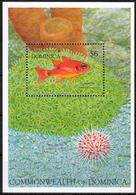 Dominica MiNr. Bl. 214 ** Leben Am Riff Bei Tag Und Nacht, Fische - Dominica (1978-...)