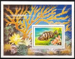 Dominica MiNr. Bl. 30 ** Fische - Dominica (1978-...)