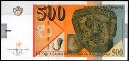 Macedonia,500 Denari,2014, A:gold Masc( VIc.BC),O:flower Of Poppy,UNC,as Scan - Macedonië