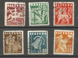 Lithuania - 1940 Peace CTO  SG 439-44   Sc 317-22 - Lithuania