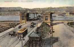 "M08610 ""BUDAPEST-MARGITHID-MARGARETHENBRUCKE""ANIMATA-CARRI,CARROZZE,TRAMWAY-CART. ORIG. SPED. 1910 - Ungheria"