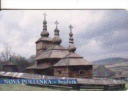 Slovaquie 2002,Slovak Telecom Chip, 1/2002, église En Bois-Nová Polienka - Svidník, Used - Slovaquie