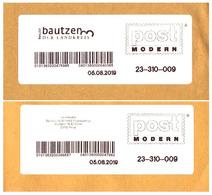 Bund / Post Modern [01129 Dresden]: Stempel / Cancel 'Pirna [01782] - Bautzen [02625], 2019' - Privados & Locales