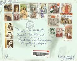 Belle Lettre Recommandée De L'Inde 2019, Adressée Andorra, Avec Timbre à Date Arrivée - Covers & Documents