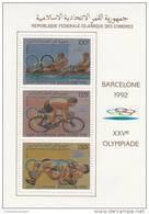 Comores Nº Michel 825A Al 830A En  3 Hojas - Summer 1992: Barcelona