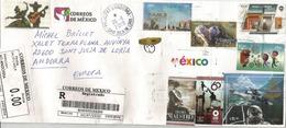 Belle Lettre Recommandée Du Mexique 2019, Adressée Andorra, Avec Timbre à Date Arrivée - México